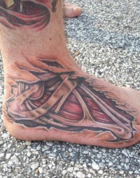 Flesh and bone insides tattoo